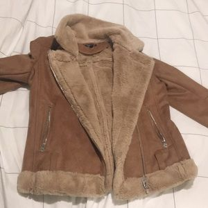 Topshop Faux Sherpa-lined jacket. SUPER soft.